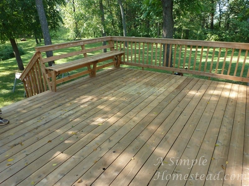 deck - after pressure washing