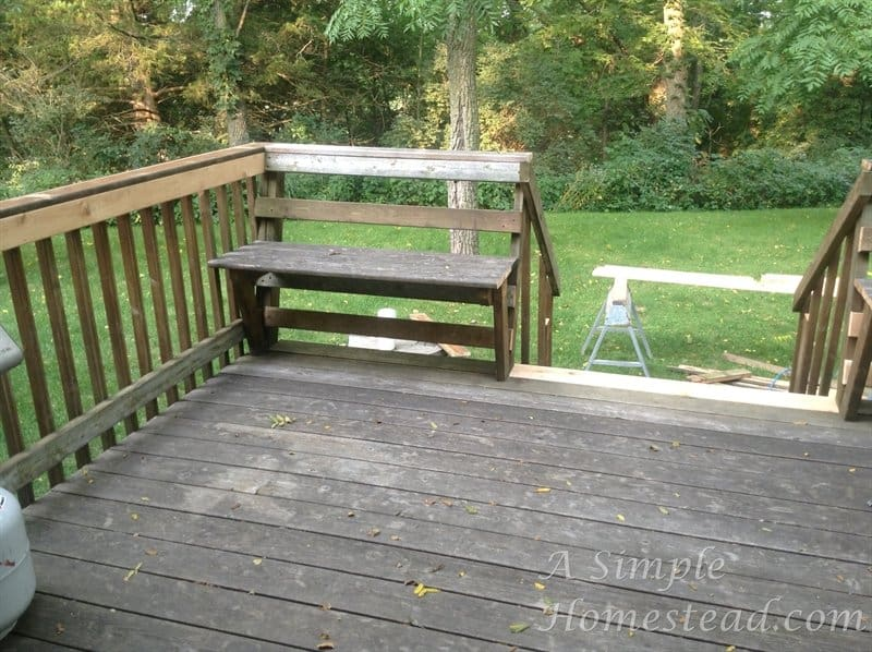deck - new entrance