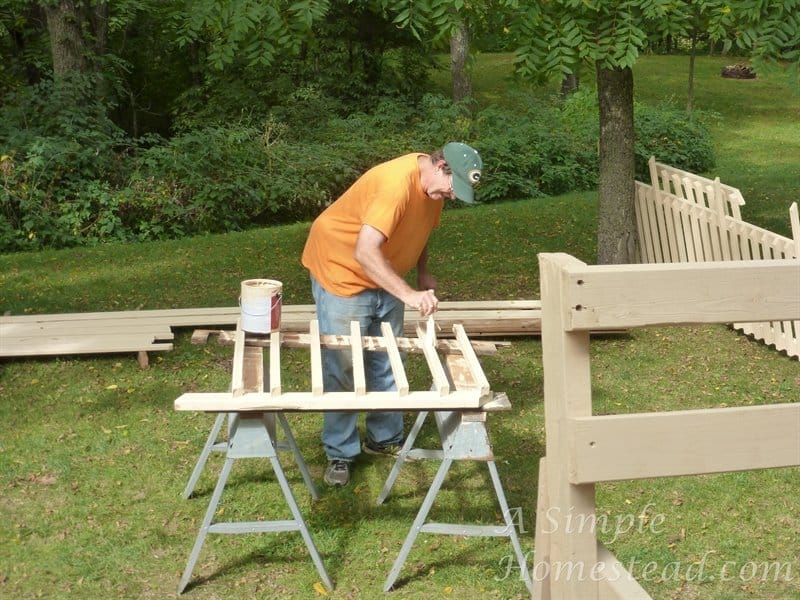deck - painting the spindles