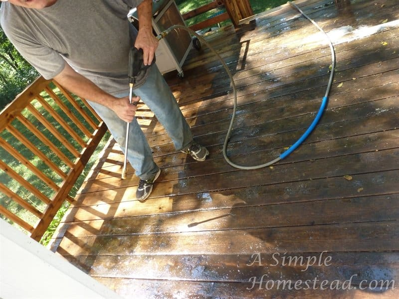 deck - pressure washing