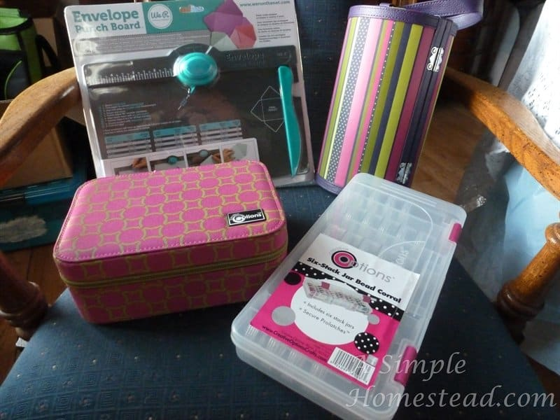 Envelope Punch board and other prizes