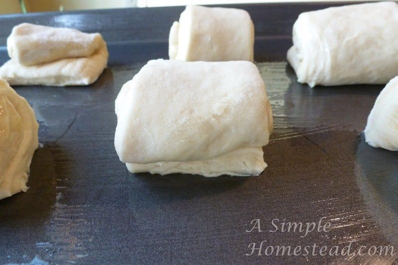 Lion house rolls on baking sheet