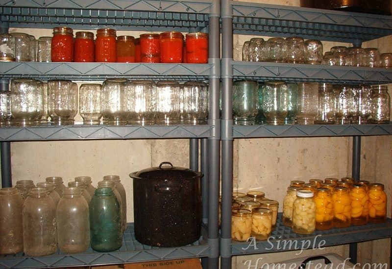 root cellar - preserved food