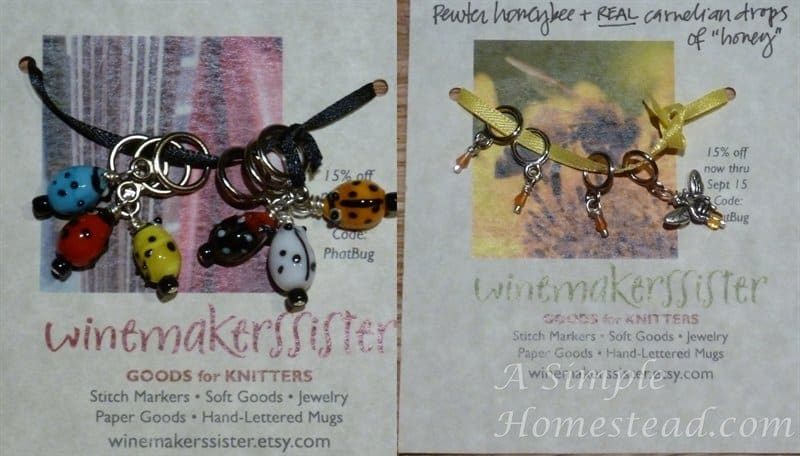 winemakerssister stitch markers
