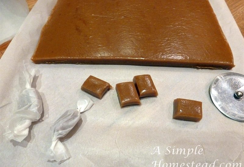 caramels - wrapping up