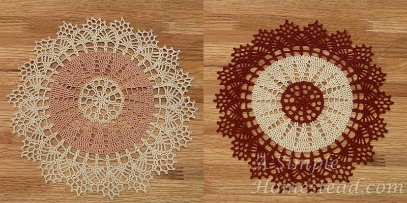 Two-toned doilies