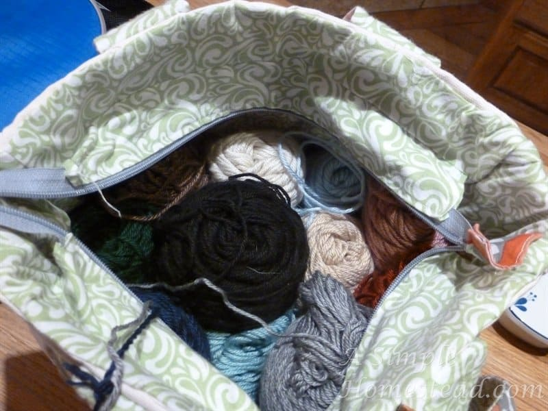 project bag for weather afghan