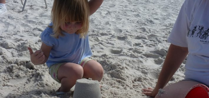 busting a sand castle