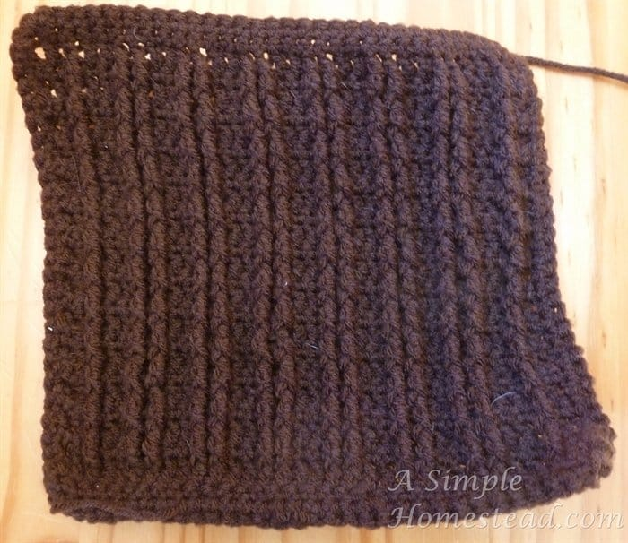 Front Post Treble Crochet Square