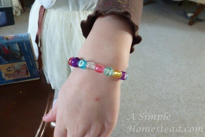 Little Chick's new bracelet