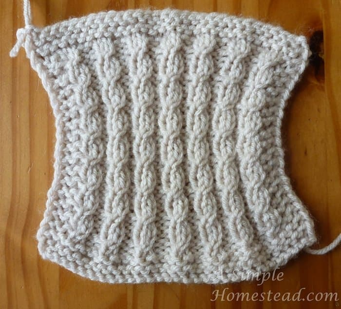 Mock Cable Dishcloth front