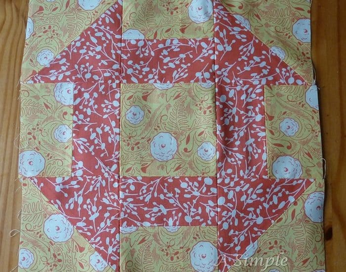 Churn Dash quilt block