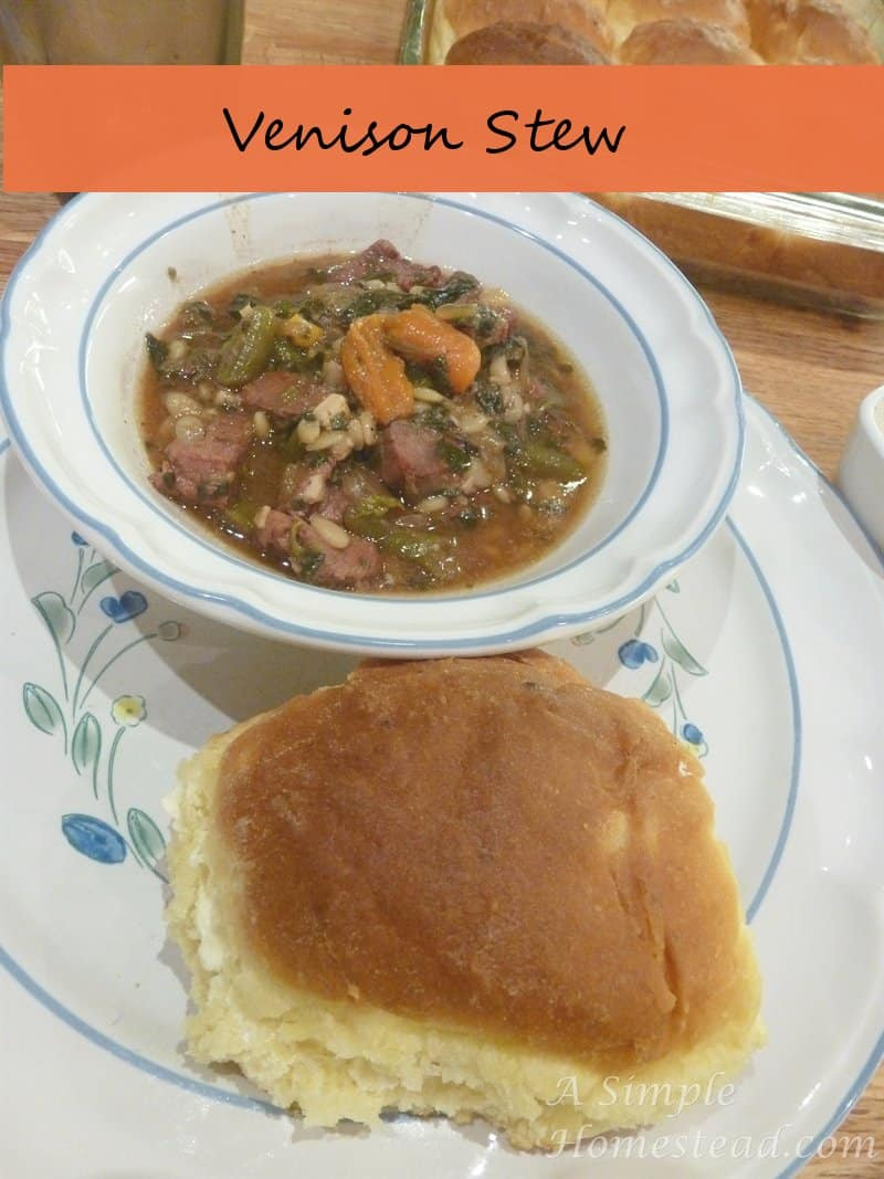 Venison Stew and Potato Rolls - ASimpleHomestead.com