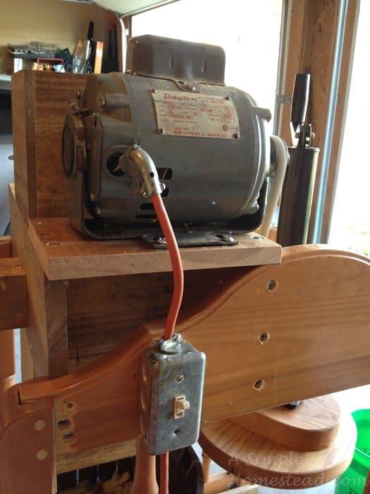 ASimpleHomestead.com - cider press motor