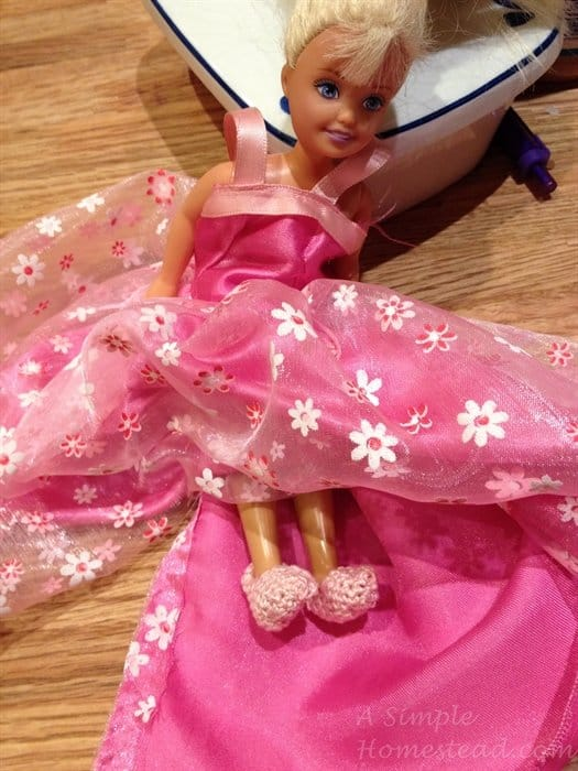 ASimpleHomestead.com - Barbie's slippers