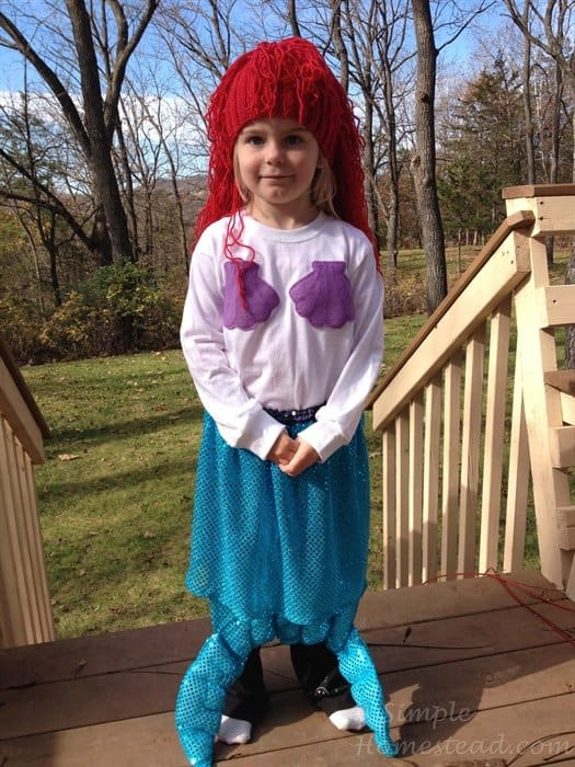 ASimpleHomestead.com - mermaid costume