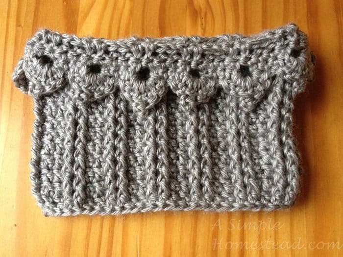 ASimpleHomestead.com - ribbed picot boot topper