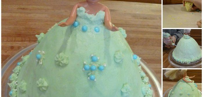 ASimpleHomestead.com - Barbie birthday cake