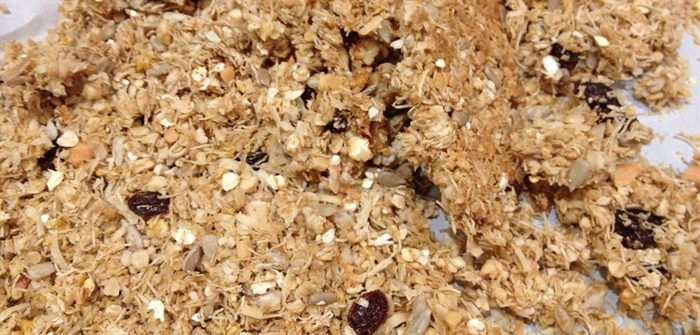 ASimpleHomestead.com - crunchy granola clusters