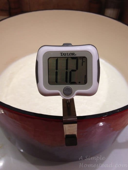 ASimpleHomestead.com - yogurt temperature