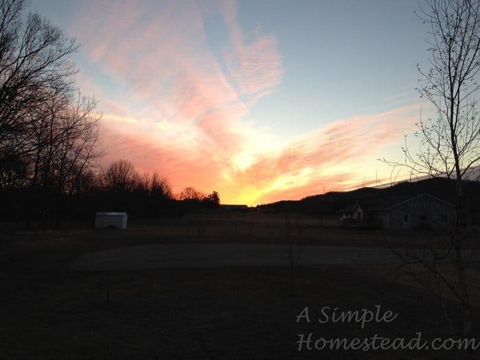 ASimpleHomestead.com - sunrise