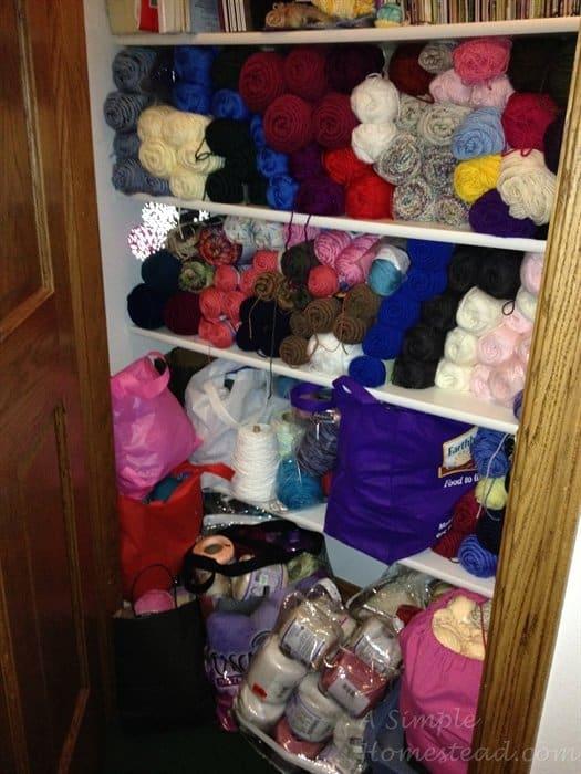 ASimpleHomestead.com - stash closet