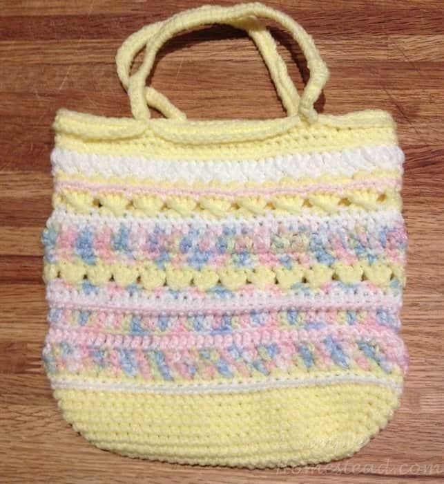 ASimpleHomestead.com - freeform purse