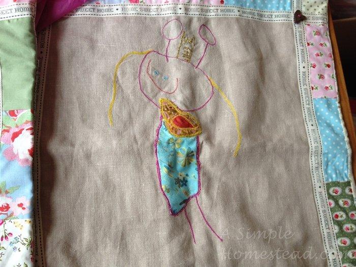 ASimpleHomestead.com - self portrait pillow cover
