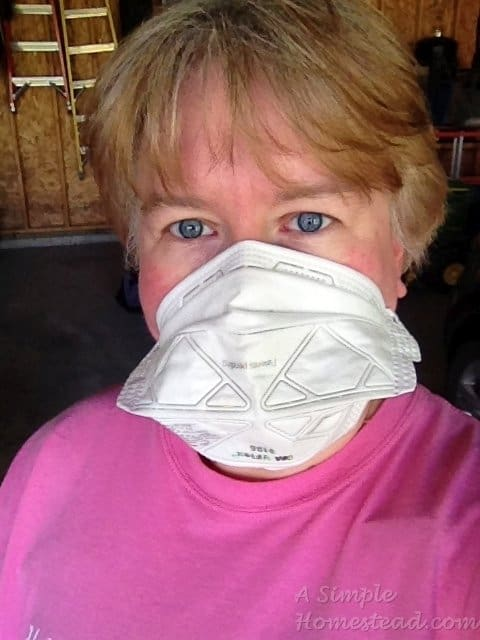 ASimpleHomestead.com - Mama in safety gear