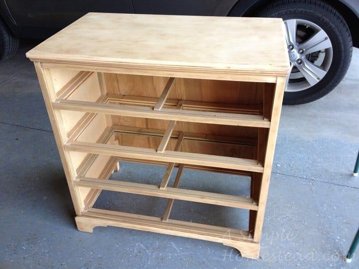 ASimpleHomestead.com - stripped dresser