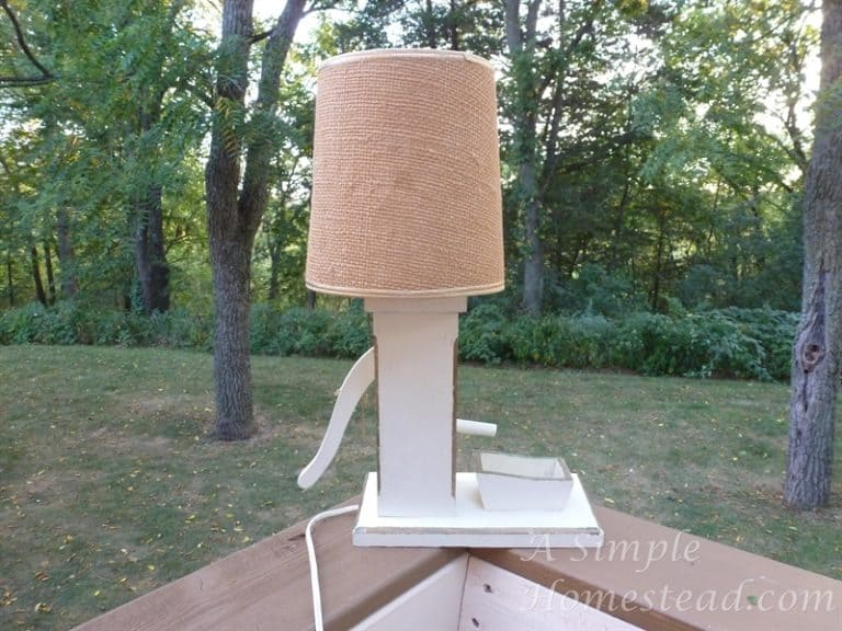 ASimpleHomestead.com - Grandpa's pump lamp