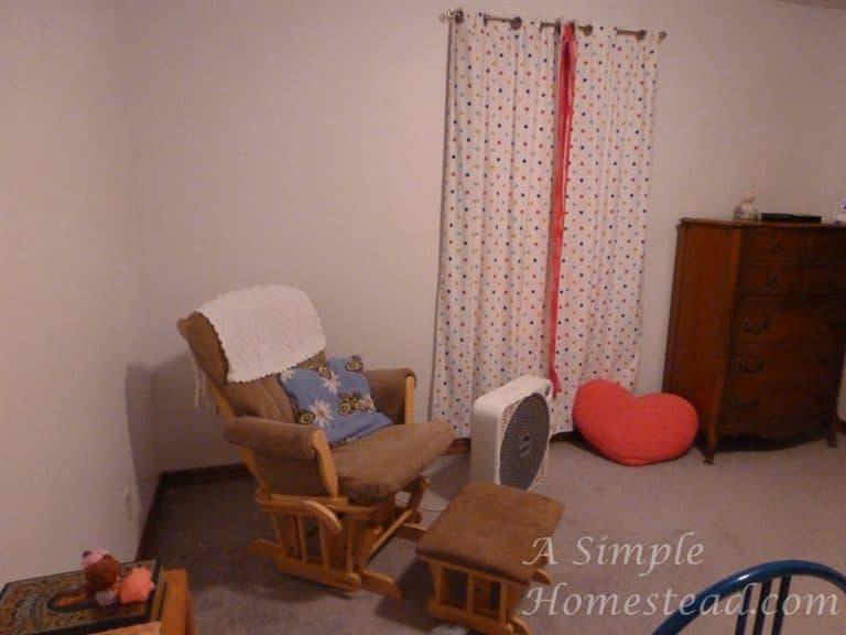 ASimpleHomestead.com - bedroom rocking chair