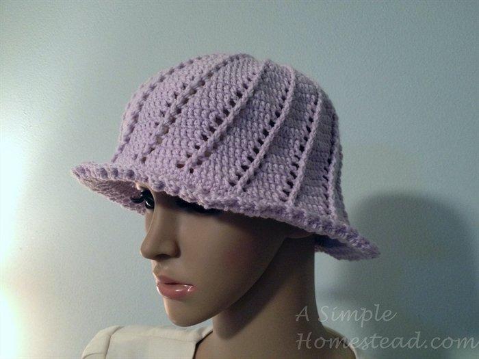 ASimpleHomestead.com - Russian Spiral Cloche hat