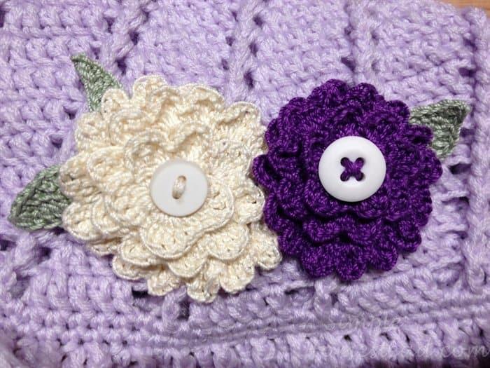 ASimpleHomestead.com - white and purple gratitude flowers
