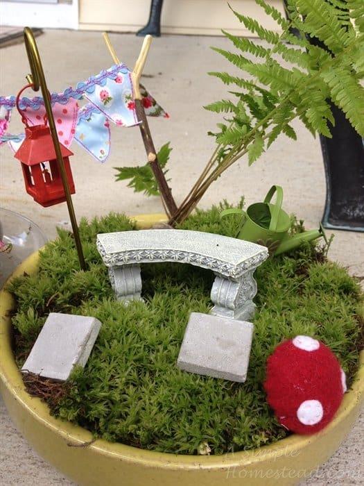 ASimpleHomestead.com - fairy bench