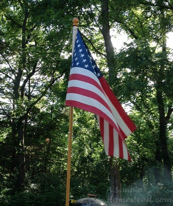 ASimpleHomestead.com - American flag