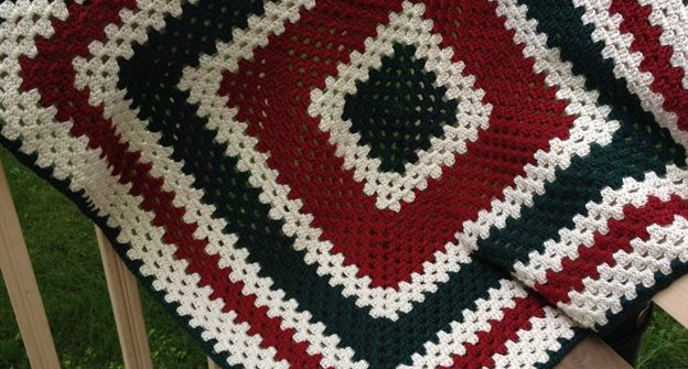 ASimpleHomestead.com - granny square blanket