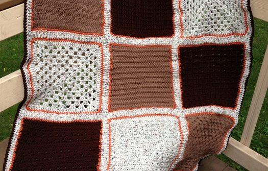 ASimpleHomesteadlcom - Checkerboard Textures Afghan