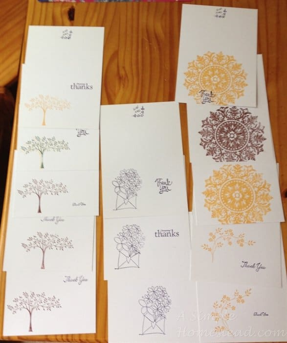 ASimpleHomestead.com - thank you cards
