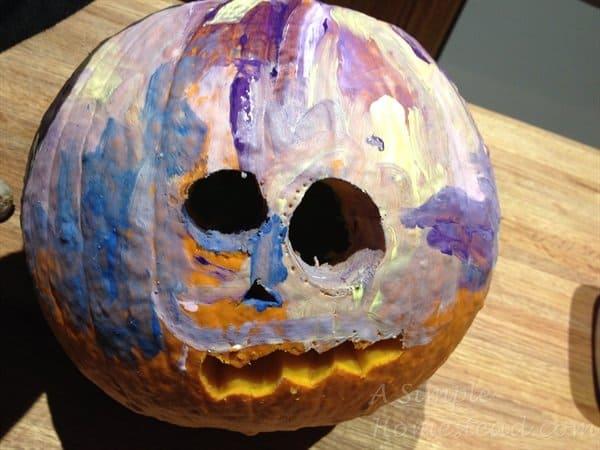 ASimpleHomestead.com - Twilight Sparkle pumpkin