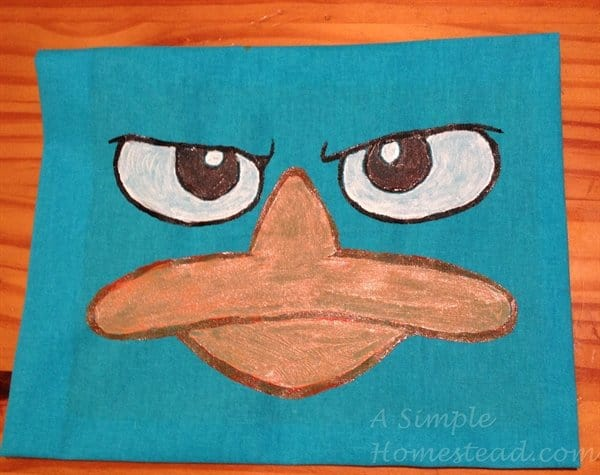 ASimpleHomestead.com - Perry the platypus face