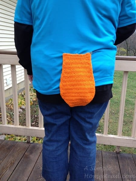 ASimpleHomestead.com - Perry the platypus tail