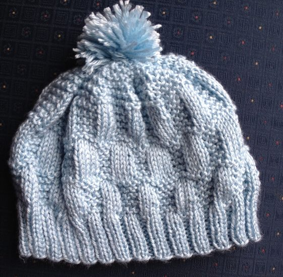 ASimpleHomestead.com - garter stitch hat