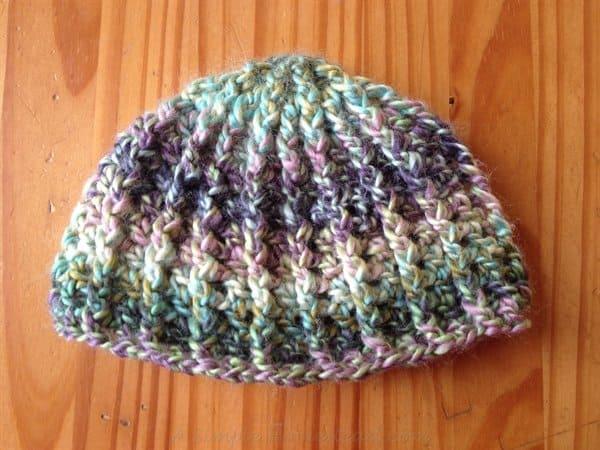 ASimpleHomestead.com - crochet swirl hat