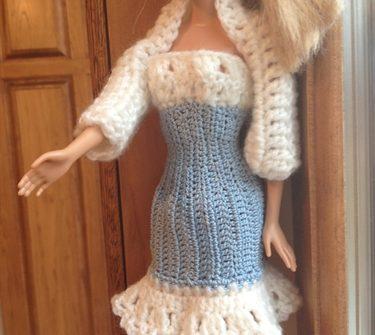 ASimpleHomestead.com - blue dress and shrug