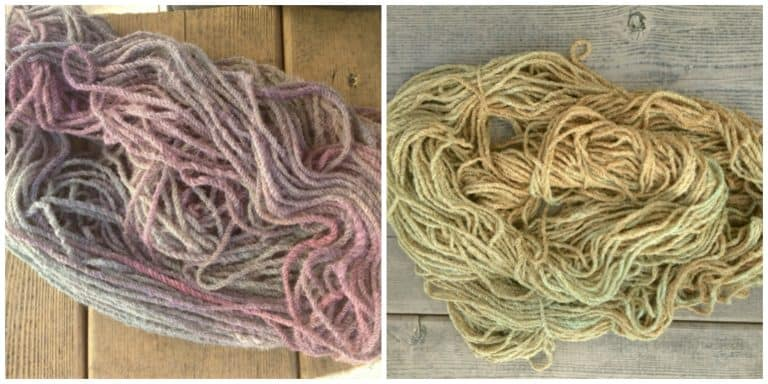 ASimpleHomestead.com - yarn dyeing failure collage
