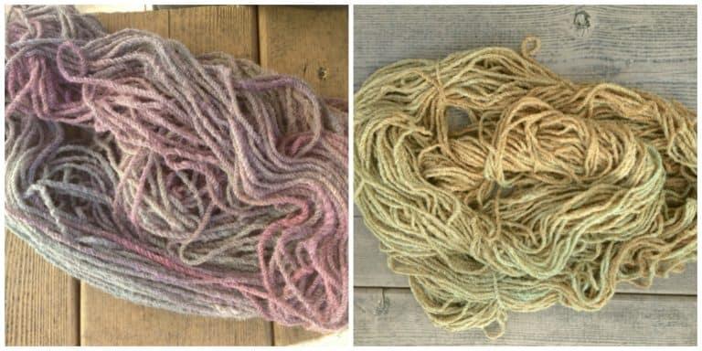 ASimpleHomestead.com - yarn dyeing failure collage