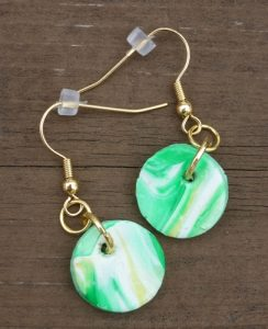 Green Bay Packer inspired earrings | ASimpleHomestead.com
