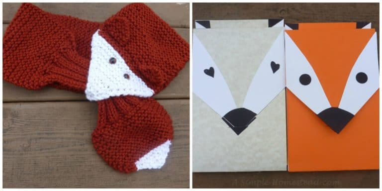 fox scarf and notepads | ASimpleHomestead.com
