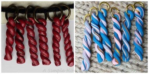 twisties polymer stitch marker sets | ASimpleHomestead.com